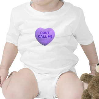 Don't Call Me Purple Candy Heart Tshirts