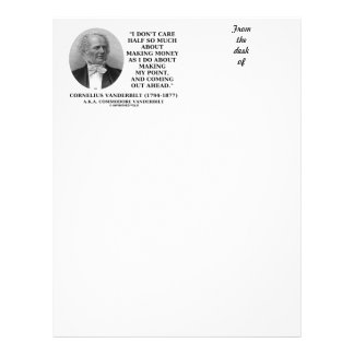 Don't Care Half So Much Making Money Making Point Letterhead