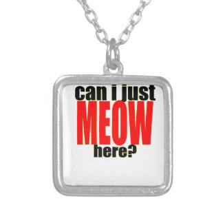 dont care meow cat catperson indifferent bother bo silver plated necklace