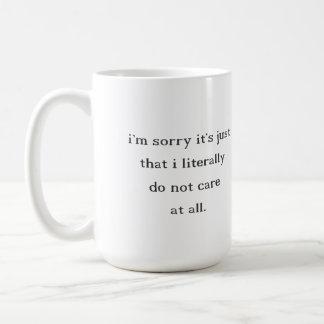 Don't Care Coffee Mug