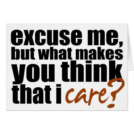 Don't Care (Orange) Card
