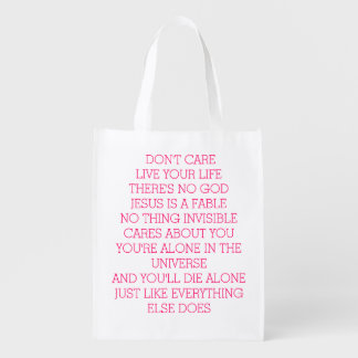DON'T CARE REUSABLE GROCERY BAG