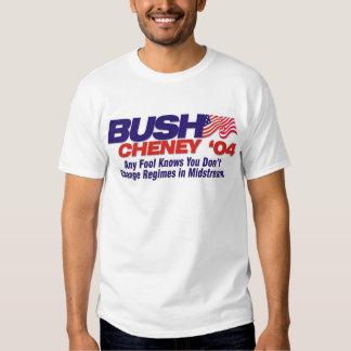 Don't change regimes in midstream shirt