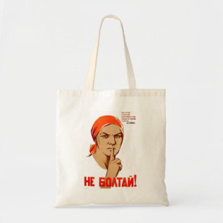Don't chat! Chatting leads to treason Budget Tote Bag