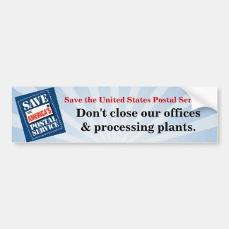 Don't close our offices car bumper sticker