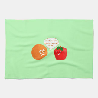 Don't Compare Apples to Oranges Hand Towel