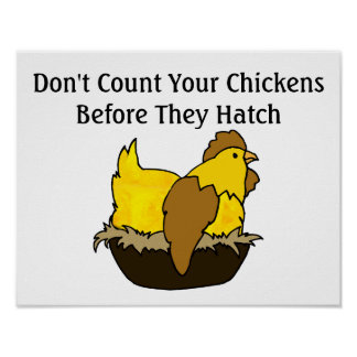 Don't Count Your Chickens Before They Hatch Poster
