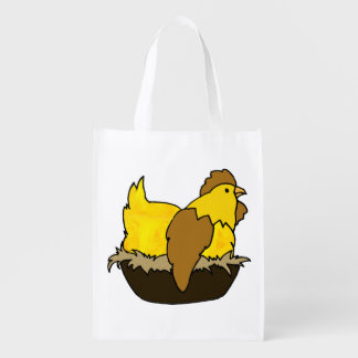 Don't Count Your Chickens Before They Hatch Reusable Grocery Bag