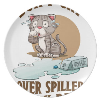 Don't Cry Over Spilled Milk Day - Appreciation Day Melamine Plate
