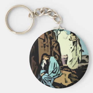 Don't Cry, The Tomb is Empty Keychain