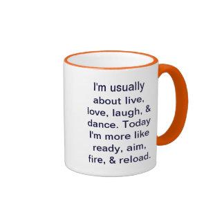 Don't dance, shoot mug