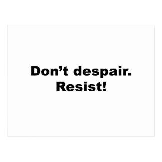 Don't Despair Resist Postcard