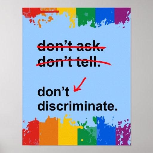 Don't discriminate - poster