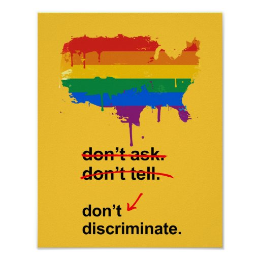 Don't discriminate - posters