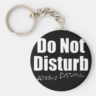DONT DISTURB ALREADY DISTURBED FUNNY COMMENTS KEYCHAIN