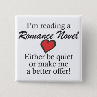 """Don't disturb me, I'm reading"" button. Button"