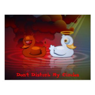 Don't Disturb My Circles Postcard