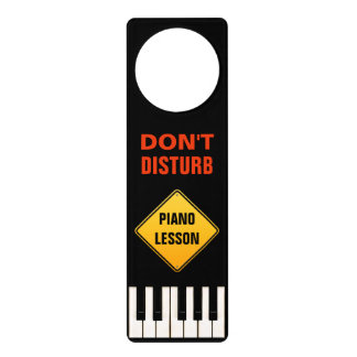 Don't disturb - Piano Lesson Door Hanger