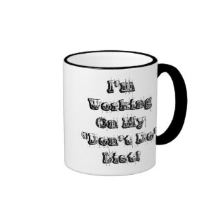 """""""Don't Do"""" List - Manly Graphic Ringer Coffee Mug"""