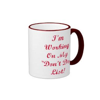 """Don't Do"" List - ""Polite"" Graphic Mug"