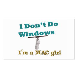 don't do windows business card