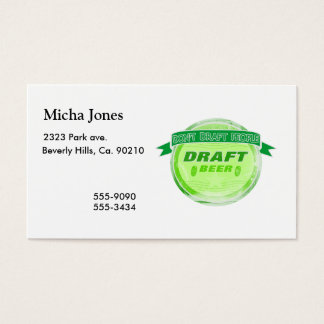 Don't Draft People Draft Beer Business Card