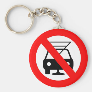Dont drink and drive basic round button keychain