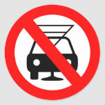 Dont drink and drive classic round sticker