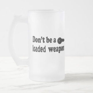 Don't Drink and Drive Frosted Glass Beer Mug