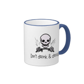Dont Drink And Drive Ringer Coffee Mug