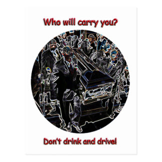 Don't drink and drive postcard