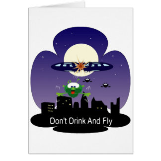 Don't Drink and Fly Card