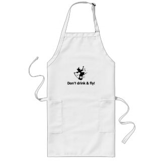 Dont Drink And Fly Flying Witch Apron