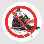 Don't Drink And Fly Round Sticker