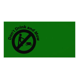 Don't Drink and Mow Card