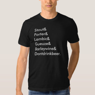 dont drink beer shirt