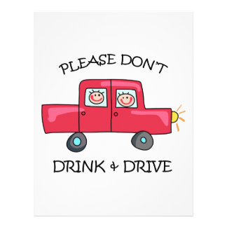 DONT DRINK & DRIVE PERSONALIZED LETTERHEAD