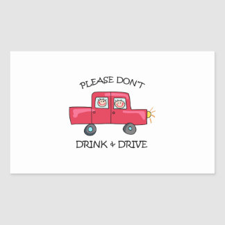 DONT DRINK & DRIVE RECTANGULAR STICKERS