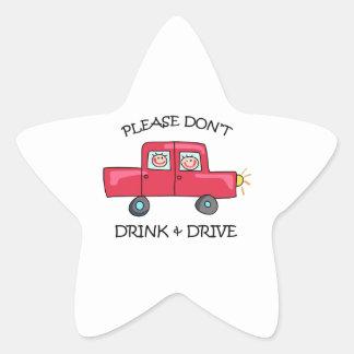 DONT DRINK & DRIVE STAR STICKER