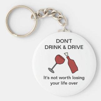 Don't Drink & Drive Wine Keychain
