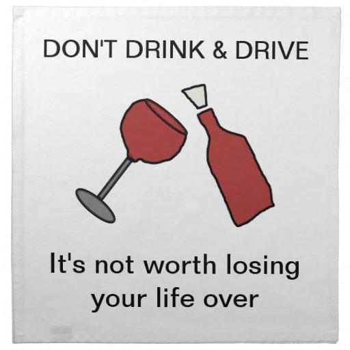 Don't Drink & Drive Wine Napkin