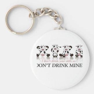 Don't Drink my Milk Basic Round Button Keychain