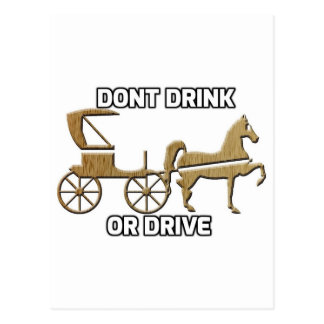 Don't Drink Or Drive Postcard