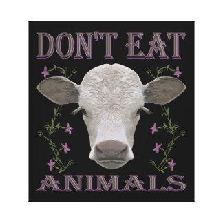 DON'T EAT ANIMALS - BL01 CANVAS PRINT