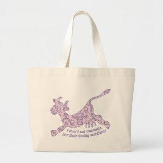 Don't Eat Animals Jumbo Tote Bag