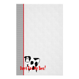 Don't Eat Me, Bro! Customized Stationery