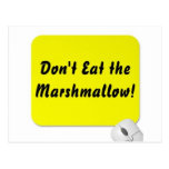 Don't Eat the Marshmallow! Postcard