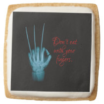 Don't Eat with Your Fingers Square Shortbread Cookie