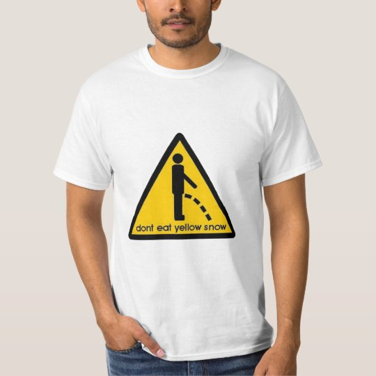 'DON'T EAT YELLOW SNOW' FUNNY SNOWBOARD SKI T-Shirt