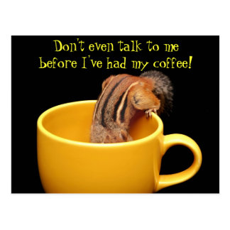 Don't even talk to me.... postcard